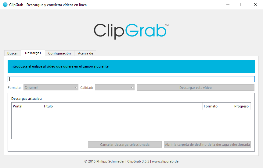 Resultado de imagen de ClipGrab 3
